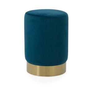 Modrý puf Tenzo Hanna, ø 33 cm