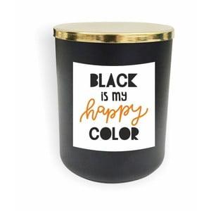 Čierna sviečka North Carolina Scandinavian Home Decors Motto Glass Candle V11