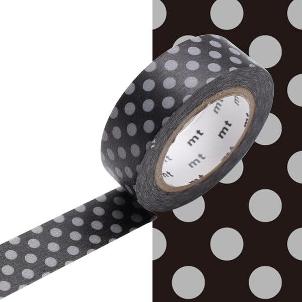 Washi páska Dot Black x Grey