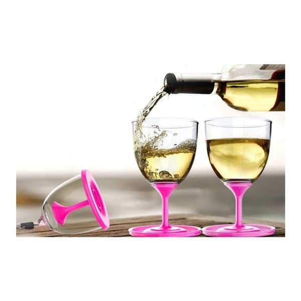 Sada pohárov na víno Stack N' Go Vino, ružová
