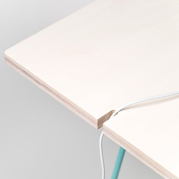 Doska stolu Studio - bielené drevo, 150x75 cm