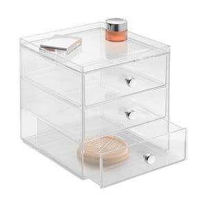 Transparentné organizér InterDesign Drawers, 3 šuplíky, výška 18 cm