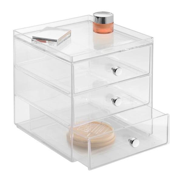 Transparentný organizér InterDesign Drawers, 3 zásuvky