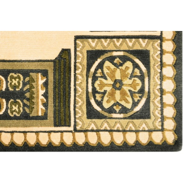 Vlnený koberec Bakero Beige, 120x180 cm