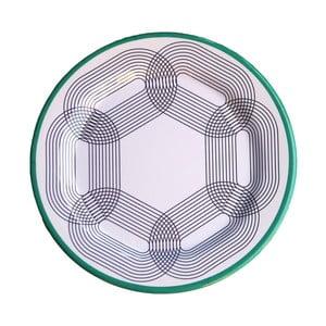 Sada 6 melamínových tanierov Sunvibes Maillon Vert, ⌀ 25 cm