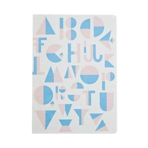 Svetlomodrý zápisník Michelle Carlslund Alphabet