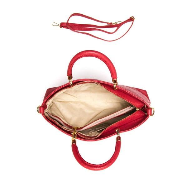 Kožená kabelka Luisa Vannini 1131 Rosso