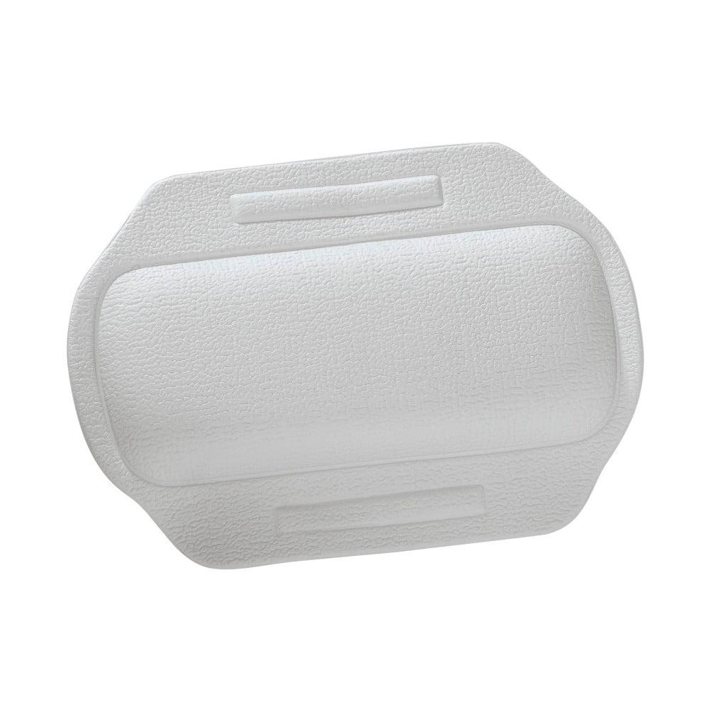 Biely prísavný vankúš do vane, 34,5 × 24 cm