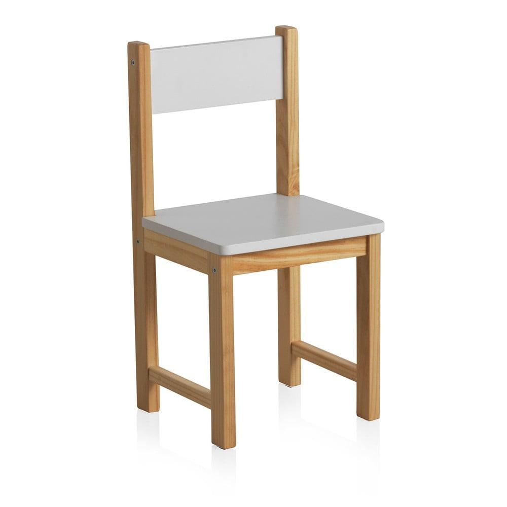 a7a963f42c1b Detská stolička s bielym operadlom Geese Petit