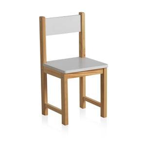 Detská stolička s bielym operadlom Geese Petit