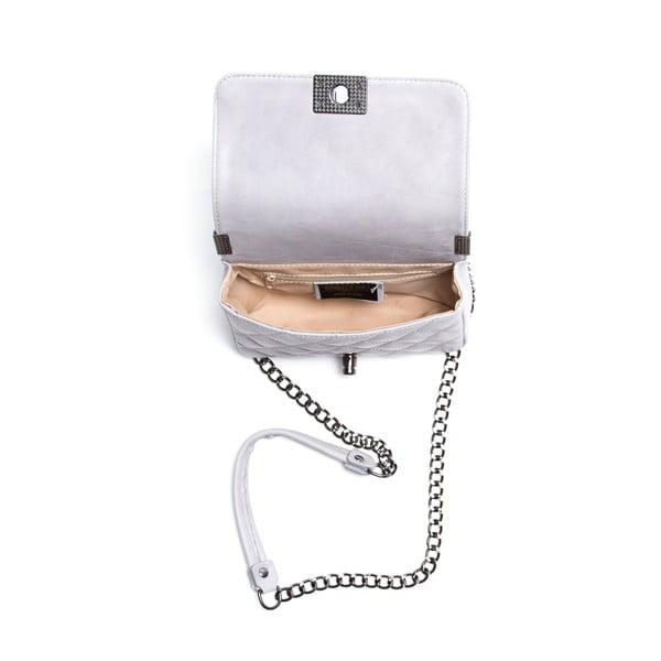 Kožená kabelka Juana, sivá