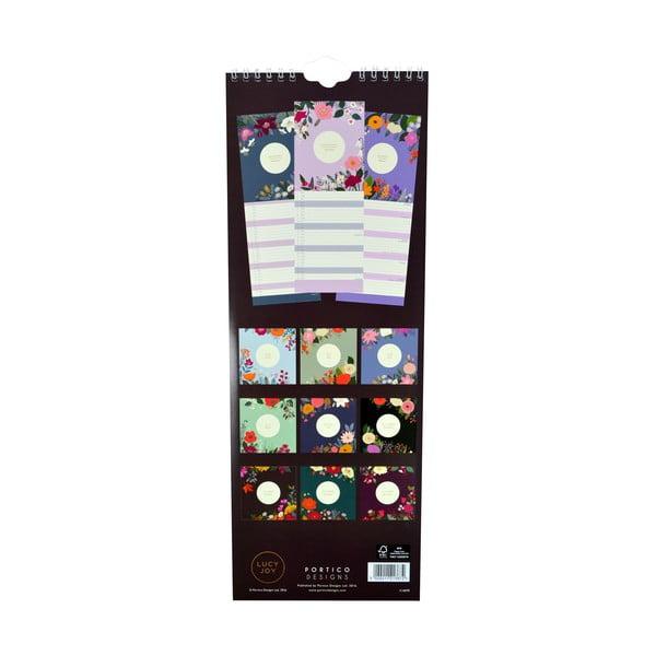 Úzky kalendár Portico Designs Lucy Joy