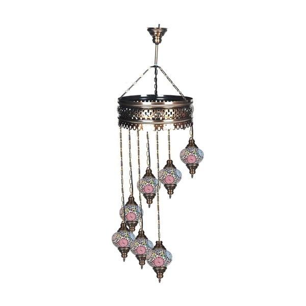 Sklenená ručne vyrobená závesná lampa Dreamer, ⌀ 15 cm