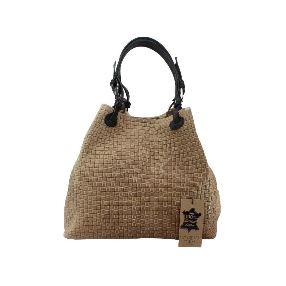d0ed68cd5 Béžová kožená kabelka Chicca Borse Tessa   Bonami