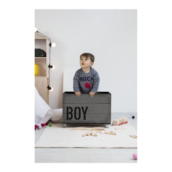 Sivý pojazdný box Really Nice Things Boy