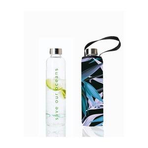 Cestovná sklenená termofľaša s obalom BBYO Paradise, 750ml