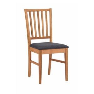Prírodná dubová stolička s čiernym sedákom Folke Mimi
