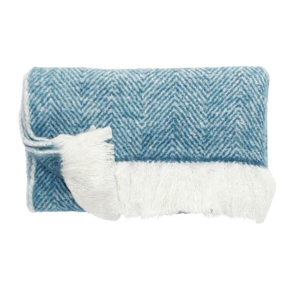 Sivo-modrá deka Hübsch Laya