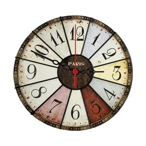 Nástenné hodiny Vintage Paris, 30 cm