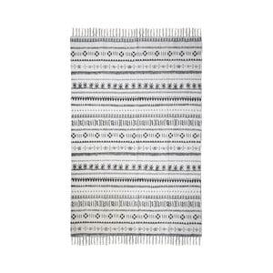 Čierno-biely bavlnený koberec HSM collection Colorful Living Manio, 70×120 cm
