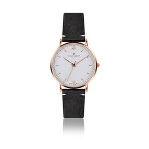 Pánske hodinky s čiernym remienkom z pravej kože Frederic Graff Rose Dent Blanche Black