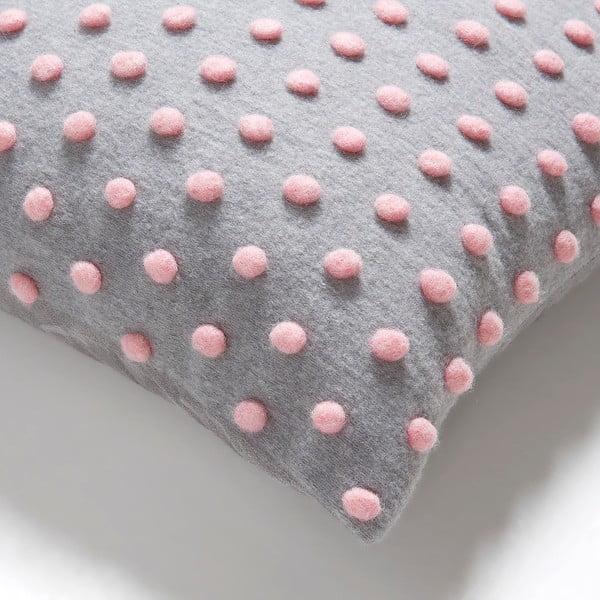Ružovo-sivý vankúš La Forma Temara, 45x45cm
