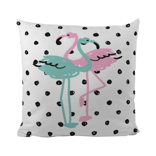 Vankúš Flamingo Duo, 50x50 cm