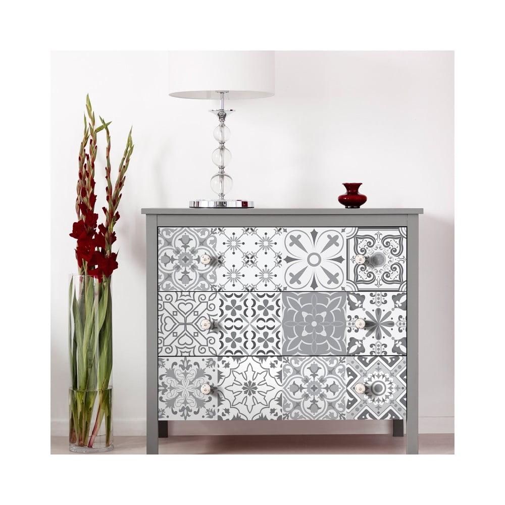Sada 30 samolepiek na nábytok Ambiance Tiles Stickers For Furniture Cineloto, 15 × 15 cm