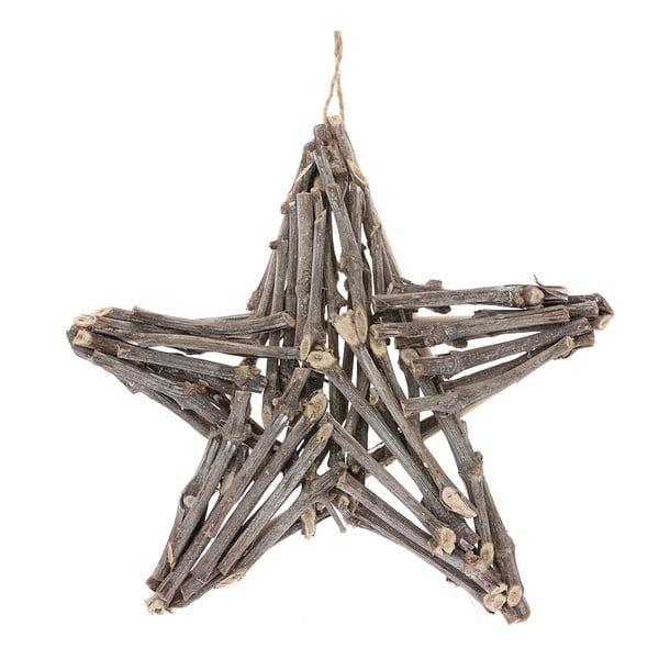 Dekoratívna prútená hviezda Woodie