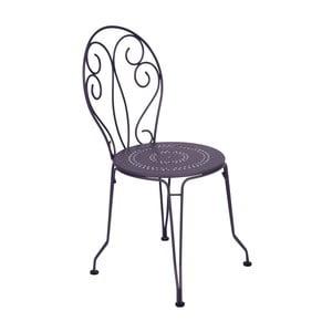 Lila kovová stolička Fermob Montmartre