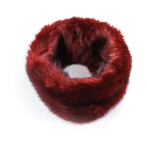 Červený kožušinový nákrčník Lavaii Anthony