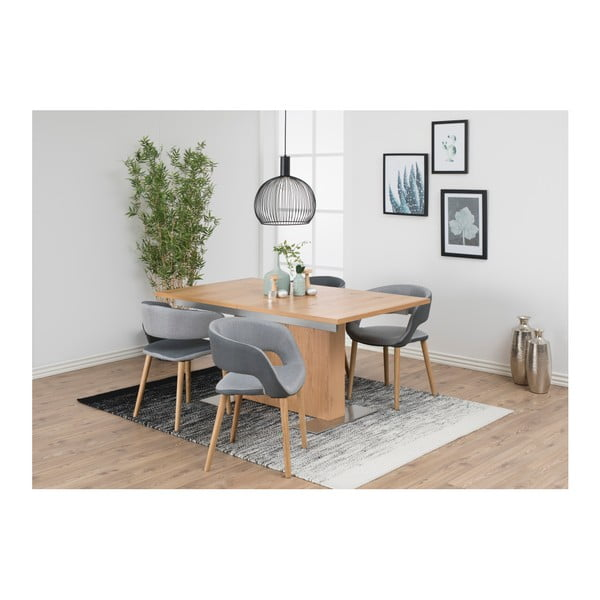 Svetlosivá jedálenská stolička Actona Greta
