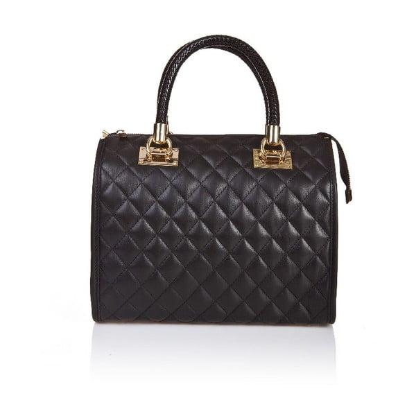Kožená kabelka Quilted Black