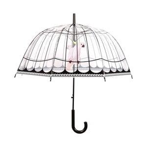 Transparentný dáždnik Esschert Design Birds