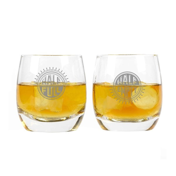 Sada 2 pohárov na whiskey Gentlemen's Hardware Half Full