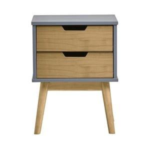 339130aef5de Sivo-hnedý nočný stolík z masívneho borovicového dreva Marckeric Baku