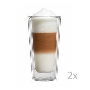 Sada 2 veľkých pohárov na latte macchiato bloomix Milano