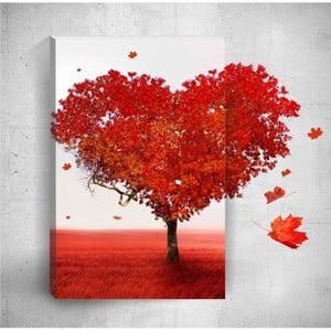 Nástenný 3D obraz Mosticx Heart, 40×60 cm