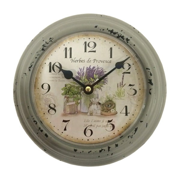 Zelené nástenné hodiny Bolzonella Lavanda