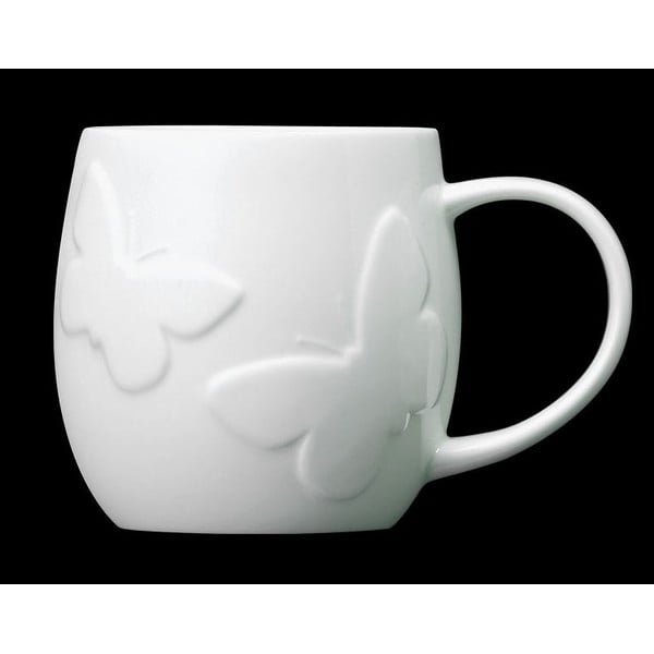 Hrnček z kostného porcelánu Plum Butterfly