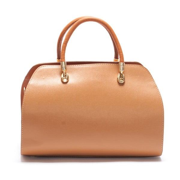 Kožená kabelka Mangotti 415 Cognac