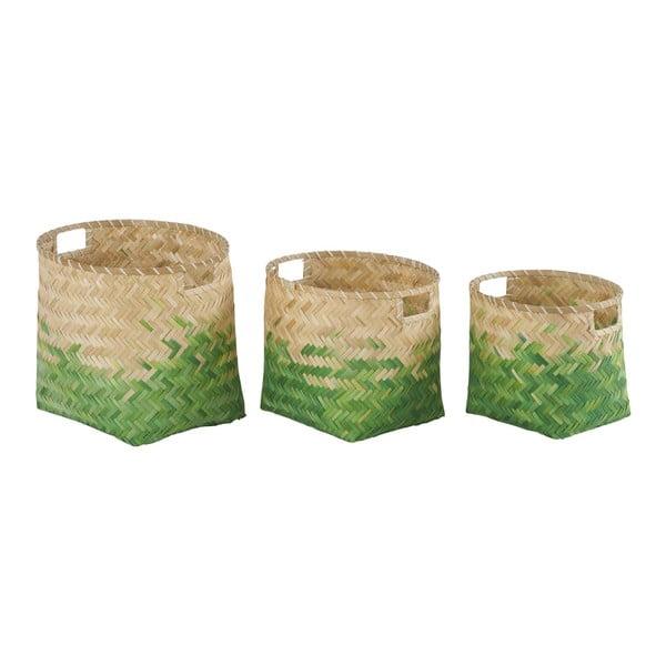 Sada 3 bambusových košíkov Athezza Natural