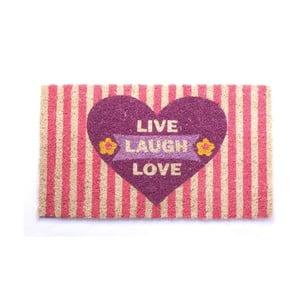 Rohožka Live, Laugh, Love, 40x70 cm