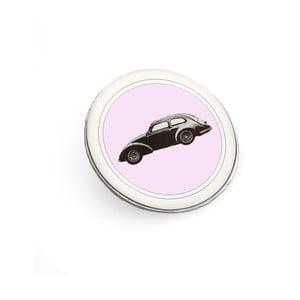 Brošňa Čierne autíčko Monsieur Chic miluje ružovú od Lucie Markovej