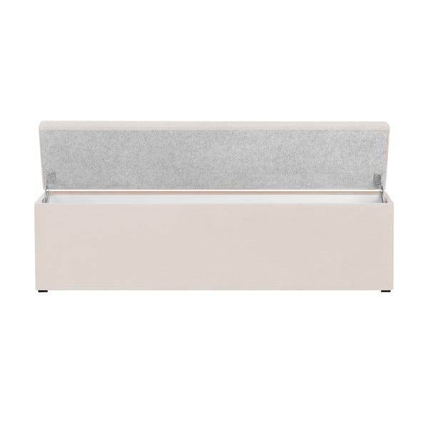 Krémový otoman s úložným priestorom Cosmopolitan Design LA, 200 x 47 cm