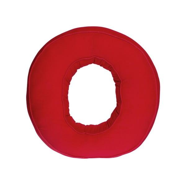 Látkový vankúš O, červený