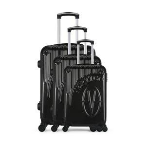 Sada 3 tmavosivých cestovných kufrov na kolieskach VERTIGO Cadenas Integre