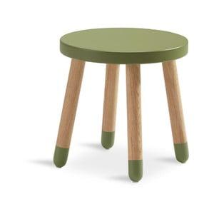 Zelená detská stolička Flexa Play, ø 30 cm
