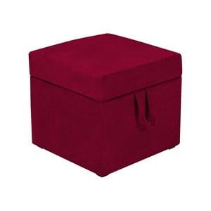 Červená taburetka s úložným prostorem KICOTI Cube