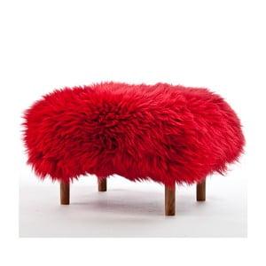 Stolička z ovčí kůže Bonwen Dragon Red